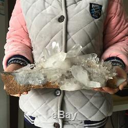 10.0lb Huge Natural Clear White Quartz Crystal Cluster Rough Healing Specimen