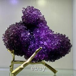 10.56LB Natural Amethyst geode quartz cluster crystal specimen Healing
