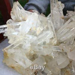 10.7lb Large Natural Clear White Quartz Crystal Cluster Rough Healing Specimen