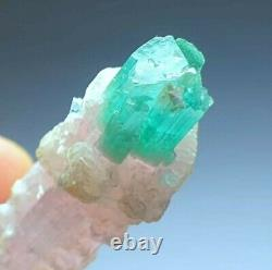 100 ct Beautiful BlueCap Double Terminated Stepwise Bunch of Tourmaline Crystal