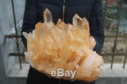 10840g(23.9lb) Natural Beautiful Clear Quartz Crystal Cluster Tibetan Specimen