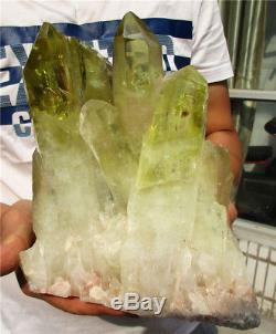 11.1LB AA+++ Natural Citrine QUARTZ Cluster Crystal Wand Point Specimen 178.8oz
