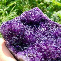 11.3LB Natural Amethyst quartz cluster crystal polishing specimen Healing