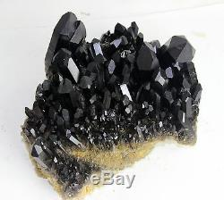 11.47lb AAA+++ Beautiful Black Quartz Crystal Cluster Specimen Rare
