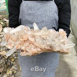 11.5LB Natural Clear Quartz Cluster Crystal Specimen Healing 12.7UTD49
