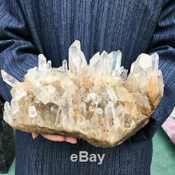 11.7LB Natural Clear quartz cluster Mineral crystal specimen healing ATD139-FA