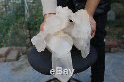 11000g(24.2lb) Natural Beautiful Clear Quartz Crystal Cluster Tibetan Specimen