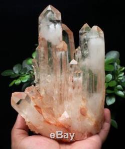 1180g New Find Clear Natural Pink QUARTZ Crystal Cluster Original Specimen