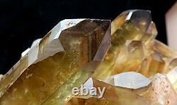 11lb Natural Clear Smoky Citrine Quartz Point Crystal Cluster Healing Mineral