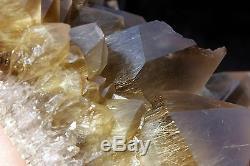 12.24lb Rare NATURAL Clear Golden RUTILATED QUARTZ Crystal Cluster Specimen
