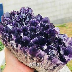 12.62LB Natural Amethyst geode quartz cluster crystal specimen energy Healing