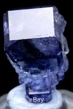 12.9g NATURAL Purple FLUORITE Quartz Crystal Cluster Mineral Specimen