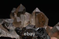 120g Natural Cassiterite Smoky Quartz Crystal Cluster Rare Mineral specimens