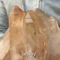1268g Large Natural Smoky Citrine Quartz Crystal Cluster Rough Healing Specimen