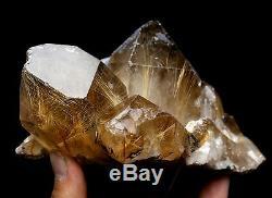 1279g Natural It's light brown Rutilated Crystal Cluster Mineral Specimen
