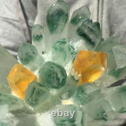 1299g Large Clear Green Phantom Quartz Crystal Cluster Healing Mineral Specimen