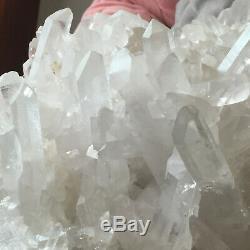 13.0lb Huge Natural White Quartz Crystal Cluster Rough Specimen Healing