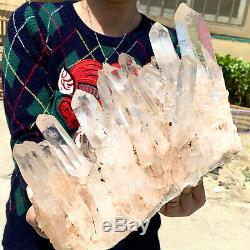 13.2LB Quartz Cluster Himalayan Crystal /Mineral HIGH GRADE RF190