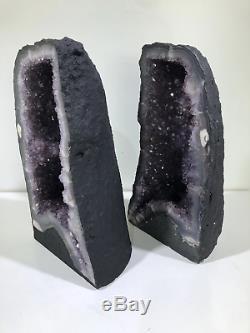 13 Pair Amethyst Cathedral Crystal Quartz Cluster Natural Stones Specimen Brazi
