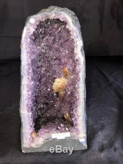 13 Qual AAA Amethyst Geode Quartz Crystal Cluster Cathedral Specimen BR