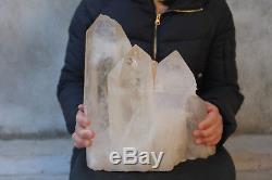 13100g(28.8lb) Natural Beautiful Clear Quartz Crystal Cluster Tibetan Specimen