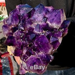 13LB Natural Amethyst geode quartz cluster crystal specimen Healing