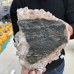 13LB Natural clear Quartz Cluster Mineral specimen Crystal specimen 11.4 TT503