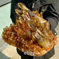 14.6 lb Natural Citrine Cluster Mineral Specimen Quartz Crystal Healing