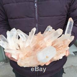 14.7lb 10.4 Natural Beautiful Rock Crystal Quartz Cluster Specimen EB33