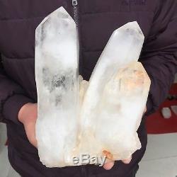 14.8lb 6.9 Natural Beautiful Rock Crystal Quartz Cluster Specimen EC21
