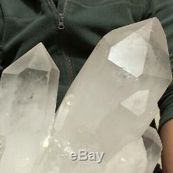 14560g Huge Natural White Quartz Crystal Cluster Rough Specimen Healing
