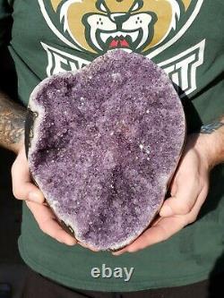 14LB Natural Amethyst Geode Quartz Cluster Crystal Specimen Healing