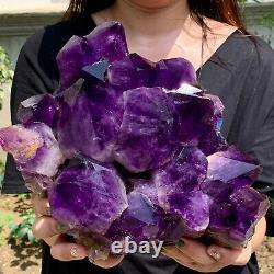 15.62LB Natural Amethyst geode quartz cluster crystal specimen Healing