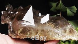 1510g Rare NATURAL Clear Golden RUTILATED QUARTZ Crystal Cluster Specimen