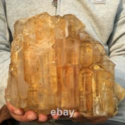 1524g Natural Clear Pink Quartz Elestial Crystal Cluster Rough Healing Specimen