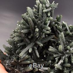 1564.9g Rare green crystal cluster, quartz, garnet, mineral specimens, China