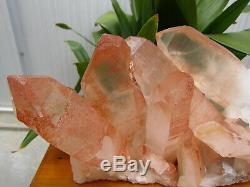 16.07lb HUGE NATURAL CLEAR quartz crystal cluster point Specimens