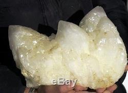 16.40lb Natural White skeletal QUARTZ Crystal Cluster Specimen