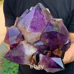 16.4LB Natural Amethyst geode quartz cluster crystal specimen Healing