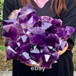 16.53LB Natural Amethyst geode quartz cluster crystal specimen Healing