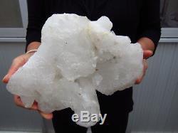 16.82lb NATURAL Clear Quartz Crystal cluster Points Specimens