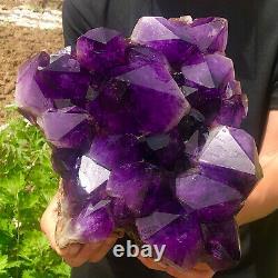 18.2LB Natural Amethyst geode quartz cluster crystal specimen Healing