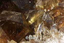18.53lb Rare NATURAL Clear Golden RUTILATED QUARTZ Crystal Cluster Specimen