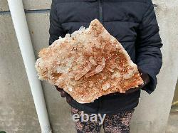 18.8LBS Huge Natural Clear QUARTZ Crystal Cluster Specimen Wand Point Healing