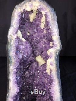 18 Quality AAA Cathedral Amethyst Geode Quartz Crystal Cluster Specimen BR