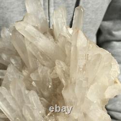 1819g Large Natural Clear White Quartz Crystal Cluster Healing Rough Specimen