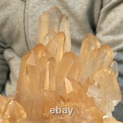 1825g Large Natural Clear White Quartz Crystal Cluster Rough Healing Specimen