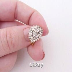 18ct gold 1/2ct diamond ring, cluster