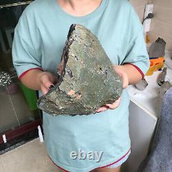 19.2LB Natural amethyst agate quartz geode crystal cluster specimen healing