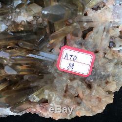 19.75LB Natural smoky citrine quartz cluster crystal specimen healing ATD88-GA
